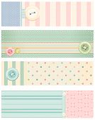 foto of shabby chic  - Set of vector banners in shabby chic style - JPG