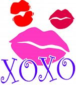 picture of xoxo  - Lipstick kiss marks with XOXO  - JPG
