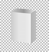 White Blank Cardboard Package Boxes Mockup. Realistic White Package Box. Blank Box Transparent On Wh poster