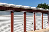 Numbered Self Storage And Mini Storage Garage Units poster