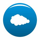 Overcast Icon Blue Circle Isolated On White Background poster