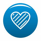 Simple Heart Icon. Simple Illustration Of Simple Heart Icon For Any Design Blue poster