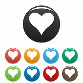 Affectionate Heart Icon. Simple Illustration Of Affectionate Heart Icons Set Color Isolated On White poster