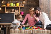 Fun Concept. Learning Is Fun. Family Have Fun With Construction Set. Real Fun poster