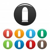 Single Cartridge Icon. Simple Illustration Of Single Cartridge Icons Set Color Isolated On White poster
