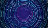 Circular Geometric Vortex Blue And Purple Light Motion Vector Background poster