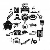 Working Progress Icons Set. Simple Set Of 25 Working Progress Vector Icons For Web Isolated On White poster
