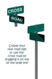 pic of road sign  - Street signs with a clipping path for simple removal and manipulation - JPG