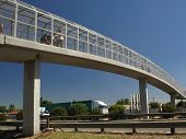 Pedestrian bridge over a freeway