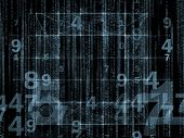 stock photo of orthogonal  - Interplay of numbers and design elements on the subject of computers science math and modern technology - JPG
