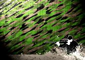 image of cap gun  - Abstract grunge hunting man background with space - JPG