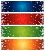 Постер, плакат: Баннеры рождественские цвета