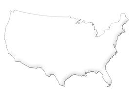 pic of usa map  - 3d high res USA map with vector path for easy extraction - JPG