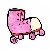 stock photo of roller-derby  - cartoon roller boot - JPG