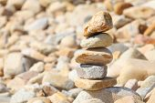 stock photo of fulcrum  - balance rock - JPG