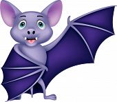 image of bat wings  - Vector  illustration of Bat cartoon waving isolated on white background - JPG