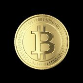 picture of open-source  - Golden Bitcoin coin  - JPG