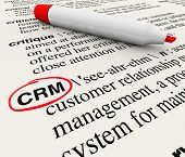 The word, phrase or acronym CRM which means Customer Relationship Management defined in a dictionary