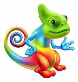 Cartoon-Rainbow-Chameleon