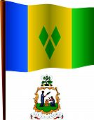 Saint Vincent And The Grenadines Wavy Flag