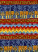 pic of lamas  - The Peruvian woolen color is viscous from a yarn of a lama or the alpaca - JPG
