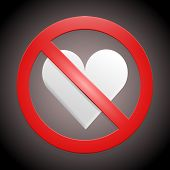 no broken hearts vector