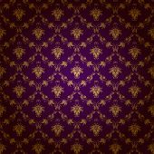 stock photo of brocade  - Damask seamless floral pattern - JPG