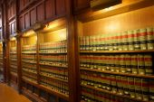 stock photo of law-books  - Many law books in the shelf