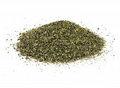 picture of potash  - A pile of kelp meal an ideal organic fertilizer and supplier of trace nutrients - JPG