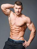 foto of jock  - The beautiful and strong young muscular guy - JPG