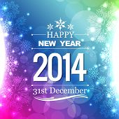image of happy new year 2014  - happy new year 2014 flyer style design - JPG