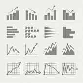 stock photo of summary  - Graphic business ratings and charts collection - JPG