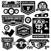 Car racing emblems