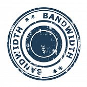 Bandwidth concept stamp isolated on a white background.