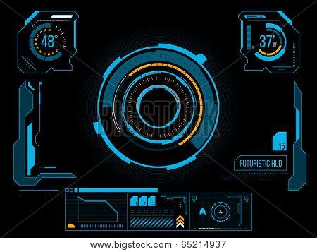 Futuristic User Interface Hud poster