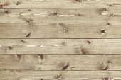 stock photo of woodgrain  - Architectural background texture of a panel of natural unpainted pine board cladding with knots and wood grain in a parallel pattern conceptual of woodwork - JPG