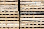 picture of wooden pallet  - The Wooden texture of pallets for background - JPG