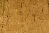 stock photo of clos  - Thailand summer dry soil texture clos - JPG