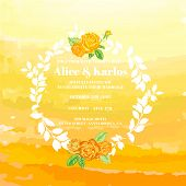 image of ombre  - Wedding Vintage Invitation Card  - JPG