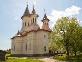 stock photo of suceava  - View of Slatioara Monastery in Bucovina - JPG