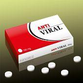 stock photo of viral infection  - Pharmaceutical named ANTIVIRAL - JPG