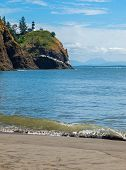 pic of disappointed  - Cape Disappointment Lighthouse in Fort Canby State Park from Waikiki Beach near Ilwaco Washington USA - JPG
