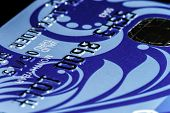 picture of plastic money  - Plastic credit card macro view money and finance - JPG