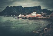 picture of reining  - Traditional wooden houses in Reine village - JPG