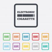 image of e-cig  - Smoking sign icon - JPG