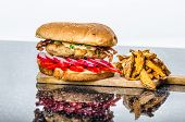 picture of fried chicken  - Chicken burger  - JPG