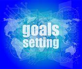 stock photo of goal setting  - Goal setting concept  - JPG