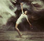 pic of fine art portrait  - Fine art photo of a beautiful girl dancing - JPG