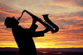 image of saxophone player  - Saxophonist - JPG