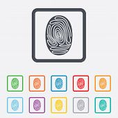image of fingerprint  - Fingerprint sign icon - JPG